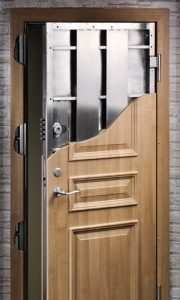 Steel Security Door with either timber or composite covering
